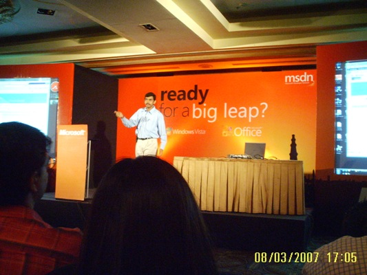 Windows Vista & Office 2007 Launch Bangalore